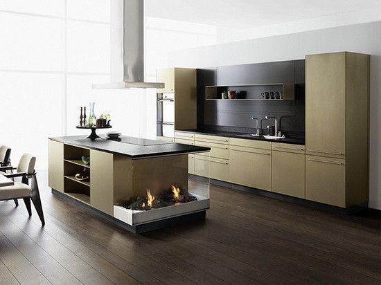 einbauküche modern ecru farbe Stahl Klassiker Forster - moderne kuchen forster