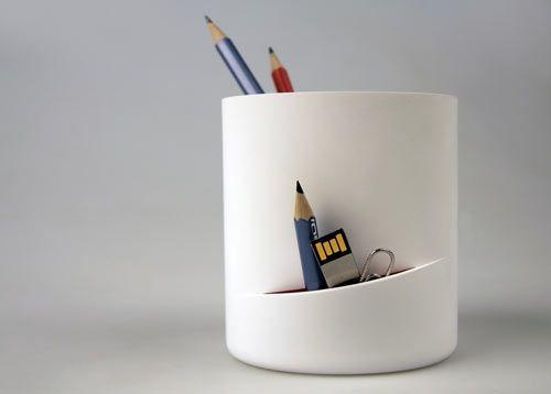 Cut cup: Cafe Stuff, Design Milk, Pencil Cup, Woo Photo, Product Design, Pencil Holders