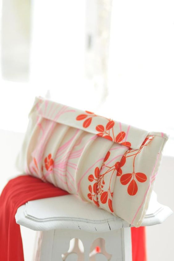Pretty Pleated Clutch from my book Sew What You Love