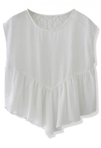 Sweet Love White Lace Back Dolly Top