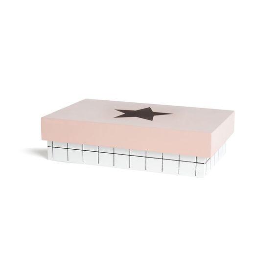 Box Stern Mischholz rosa ca L:20 x B:12 x H:5 cm