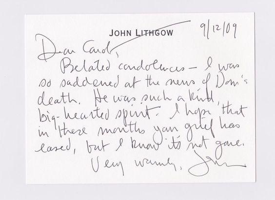 9 best Dom \ Carol Deluise Letter Archive images on Pinterest - condolence letter