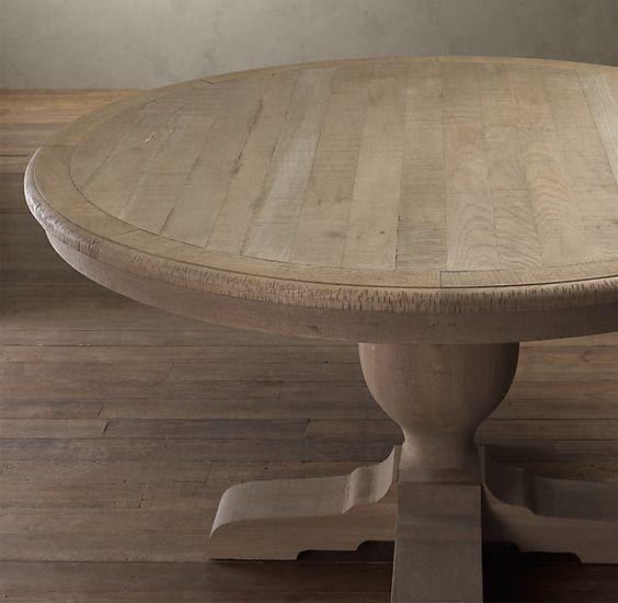 Restoration hardware french urn pedestal dining table for Pedestal table diy