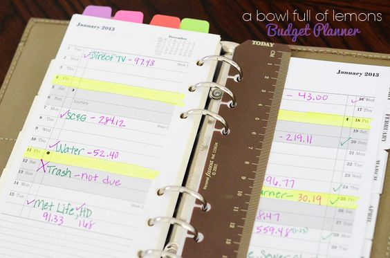 planner ideas  finance and due date on pinterest