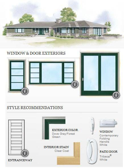 Window a house and house on pinterest for Windows for ranch style homes