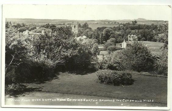 Oxon postcard Chipping Norton view over Norton road | eBay