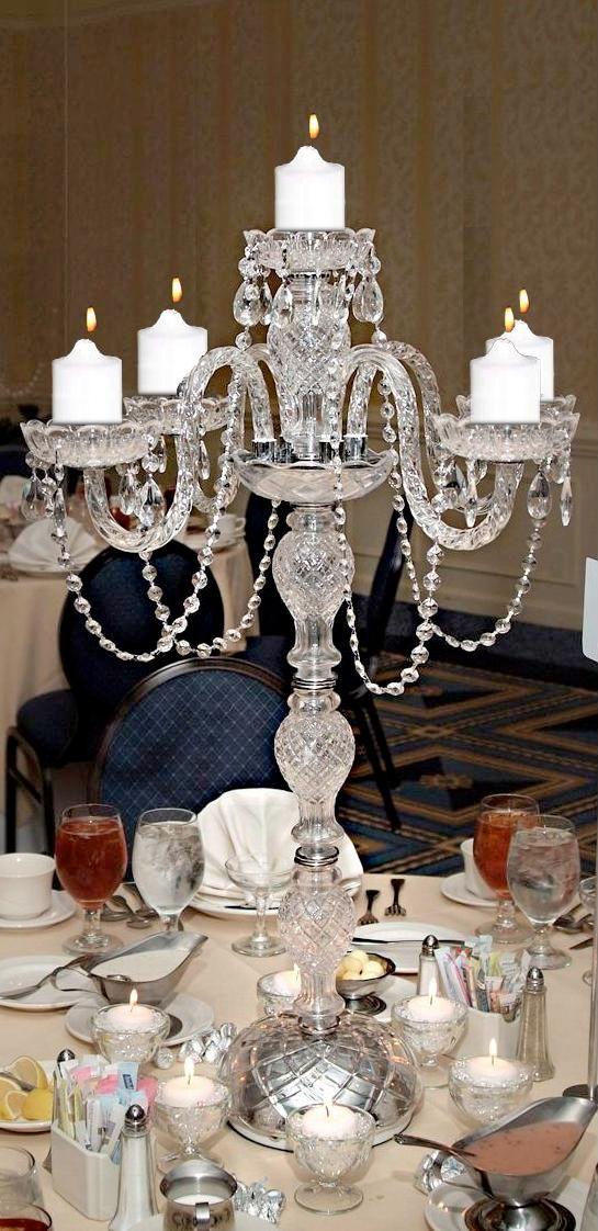 Candelabras centerpieces chandelier chandeliers crystal