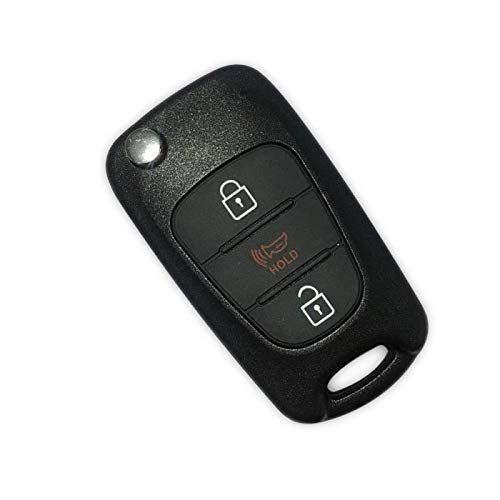 3 Buttons Flip Key Remote Fob Case Shell With Uncut Blank Blade