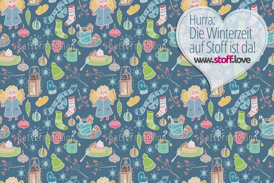Wundervoller Winter Stoff. Lasst euch begeistern! Heute mit dem Winterzeit Stöffchen von Julia. Wie immer schon ab 11,99€ als Baumwollstoff verfügbar #stofflove