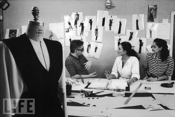 Jacqueline de Ribes working in her Studio by David Lees for LIFE, 1985.