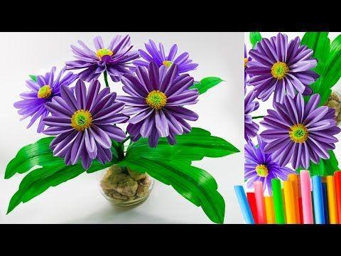 Bunga Hias Cantik Dari Sedotan Plastik Kreatif Pretty Flower