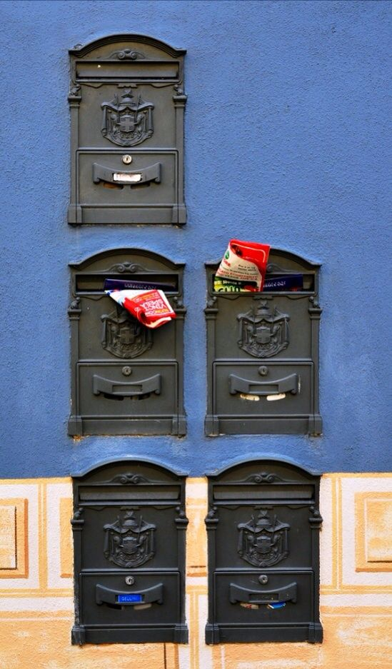Mailboxes in Tuscany, Italy