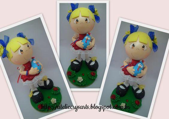 Essa loirinha ama a Galinhas Pintadinha!   Topo de bolo que seguiu para São Paulo.     Orçamentos e encomendas:   crystyane1@yahoo.com...