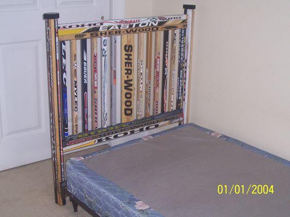 headboards+made+of+hockey+sticks | Custom Hockey Headboard by Hockey House Furniture | CustomMade.com