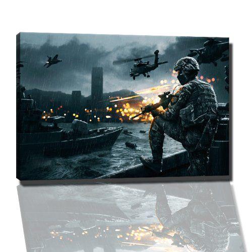 battlefield 4 bild auf leinwand 60x40 cm fertig gerahmte kunstdruckbilder als wandbild bilder games wandbilder video gemalde fotogeschenke