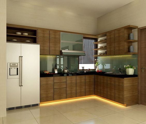 Modern Small Kitchen Design: Small-modern-kitchen-design-in-india-modern-kitchen-in