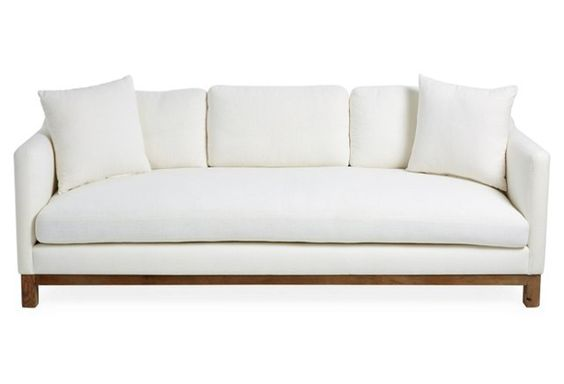 "Erin Featherstone Cara 90"" Sofa, White Linen from OKL!"