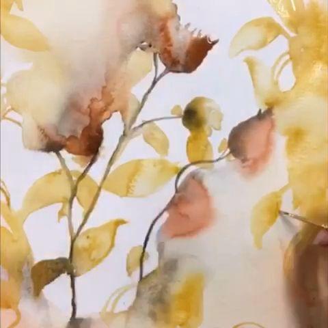 Aquarelle Humide Par Andrea Bijou Tutoriel Fleurs Aquarelle