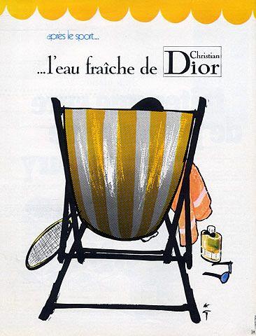 By René Gruau, 1 9 7 1, Eau Fraîche, Christian Dior (Perfumes) 1971.
