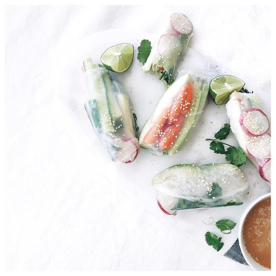 NEW recipe! Epic Thai Spring Rolls. I think all of our bodies could use a little boost of raw food yeah? These are perfect for an alternative to lunch or dinner on the Society meal plans too! #happydigestion #notadetoxjustrealfood by nutritionstripped