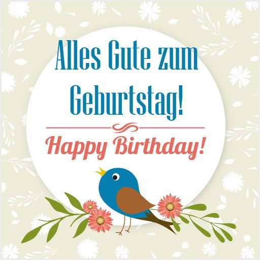 German Birthday Cards Happy Birthday In German German Language Funny Birthday Cards
