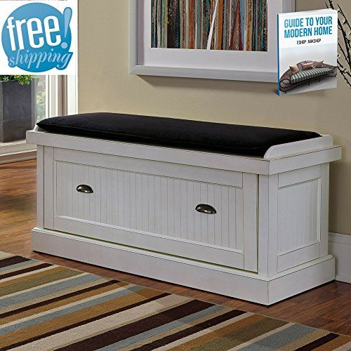 Shoe Rack Bench Seat For Entryway White With Storage Enclosed