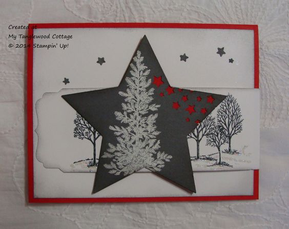 Lovely as a Tree, fancy fold, © Stampin' Up! @ My Tanglewood Cottage