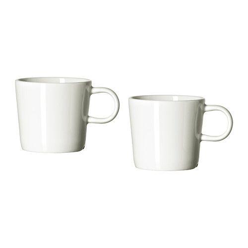 IKEA - STOCKHOLM, Chávena de café, Feita em porcelana (bone china) da melhor qualidade, esta chávena é fina e leve e também muito resistente e duradoura.Em branco cremoso e brilhante, este serviço cria uma mesa bonita para o dia a dia e também para dias festivos.