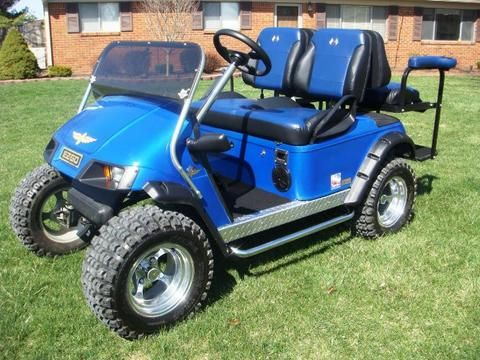 EZGO TXT Golf Cart 1994-2013 Custom Two Toned Suite / Bucket Seats - WHEELZ…