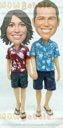 Hawaii Couple custom bobbleheads look like you $149