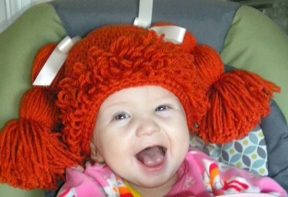Crocheted Cabbage Patch Kids Inspired Hat / by OohSoChicBoutique, $25.00