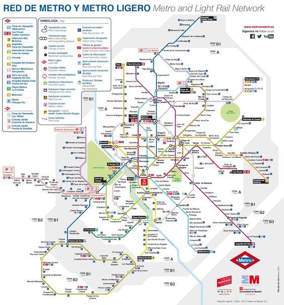 Plano de la Red de Metro y Metro Ligero