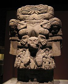 The Aztec goddess of Coatlicue, mother of earth. National Museum of Anthropology.