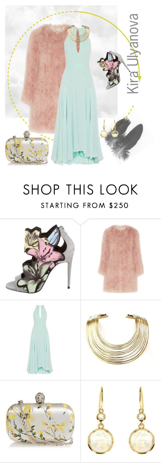 """Ease"" by explorer-14578386414 on Polyvore featuring мода, Pierre Hardy, Topshop Unique, Bisjoux, Alexander McQueen и Irene Neuwirth"