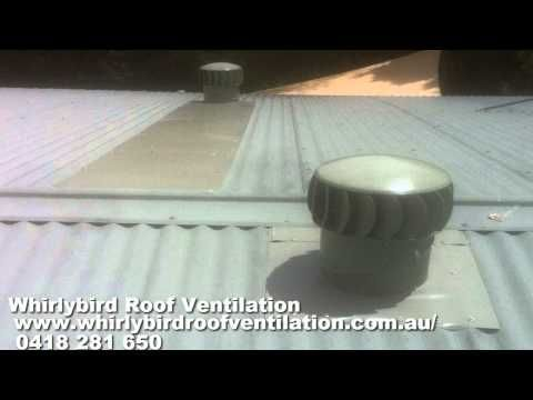 Roof Turbine Vent Installation Youtube Attic Ventilation Container House Shipping Container Homes