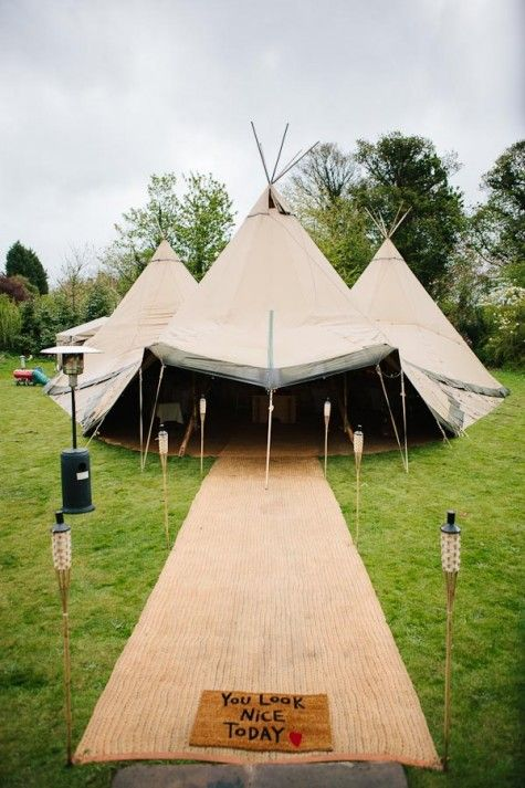 Karen and Rob's Relaxed Tipi Wedding by Tierney Photography http://www.topnotcheventcatering.com