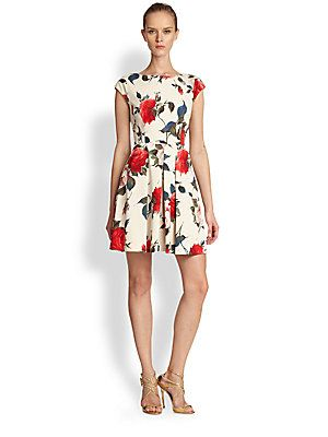 ABS Floral Print Fit And Flare Dress. Beautiful cocktail dress for ...