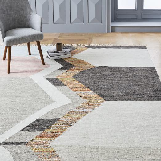 Ikat Mix Indoor Outdoor Rug West Elm Rugs In Living Room Rugs Diy Carpet