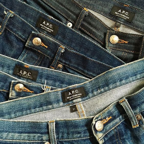 A.P.C. denim. Regram from @jjjjound #apc