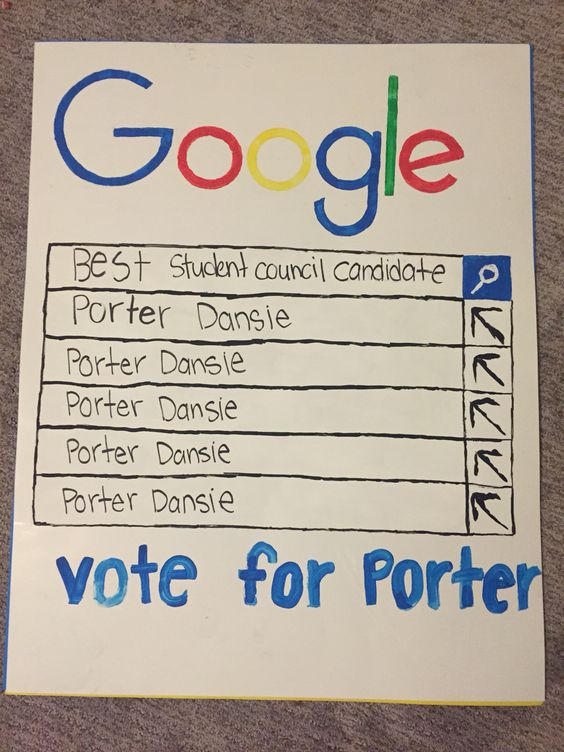 Student council poster. Google poster.