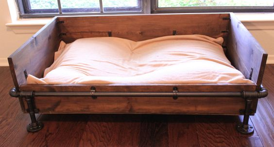 A very cool rustic industrial easy to make yourself dog bed.