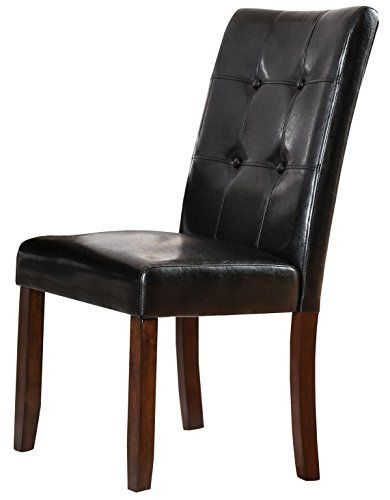 Homes Inside Out Idf 3368sc Rubia Side Chair Brown Cherry Rubio Set Of 2 Upholstered Dining Chairs Side Chairs Furniture Of America