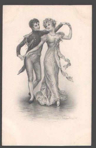 Dancing Lovers by Perant Vintage Vienne Munk: