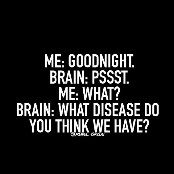 This is what my husband thinks is actually going through my head all the time!  Really... It is only going on occasionally!