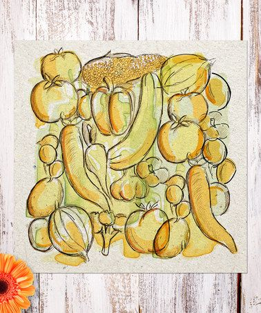 Look at this #zulilyfind! Fruit & Vegetable Sketch Print #zulilyfinds