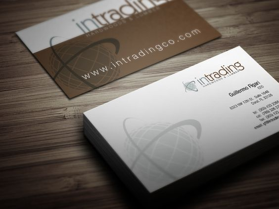 Business card design for exotic hardwood flooring pany