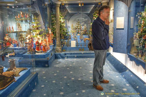 Inside the Deutsches Weihnachtsmuseum in Rothenburg ob der Tauber: