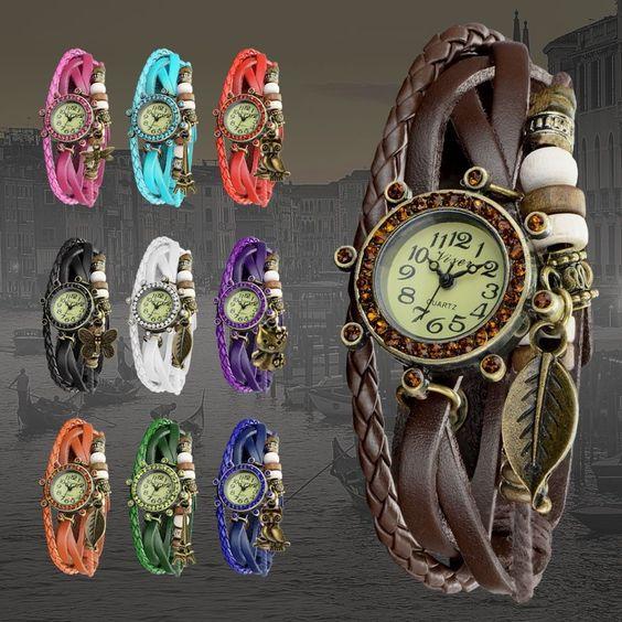 Fossil Armbanduhr Damen Holz ~ Damen Uhr Leder Armbanduhr Damenuhr Armband in Uhren & Schmuck