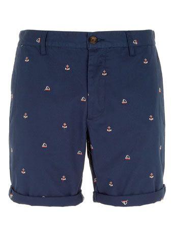 Navy Chino Anchor Shorts