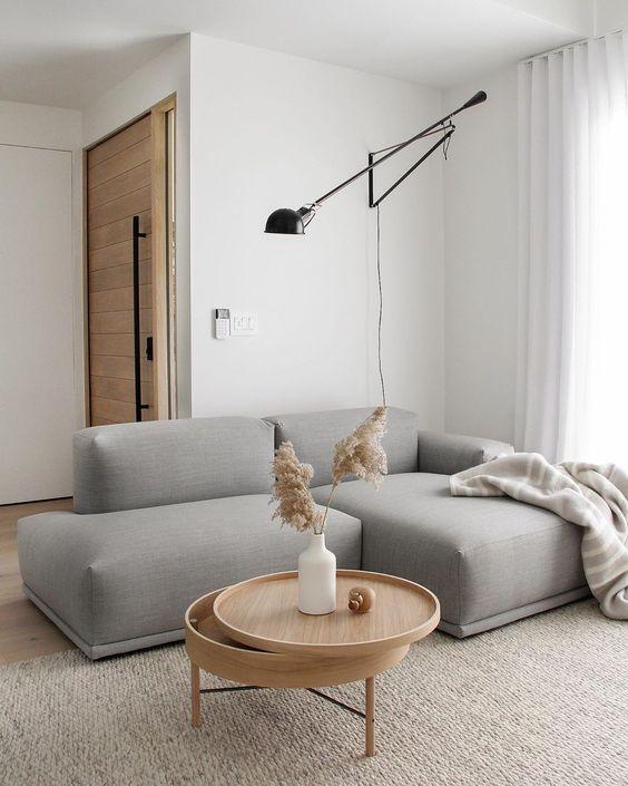 квартира минимализм студия интерьер дизайн гостиная мягкий диван designartspace daspace ru #designartspace #daspace